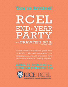 RCEL End of the Year Party