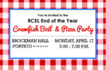RCEL End of the Year Crawfish Boil and Pizza Party