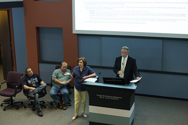 Harvey recovery seminar shares practical information with the Rice community